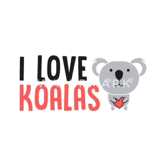 9f8f02900 I Love Koalas - Koala, Animal - Candid Awe Organic Short-Sleeved ...
