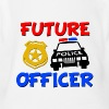 Future Police Officer Baby Shirt - Organic Short Sleeve Baby Bodysuit