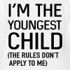I'm the youngest child. No rules - Organic Short Sleeve Baby Bodysuit