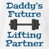 Daddy's Future Lifting Partner - Organic Short Sleeve Baby Bodysuit
