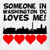 Someone In Washington DC Loves Me - Short Sleeve Baby Bodysuit