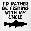 I'd Rather Be Fishing With My Uncle - Short Sleeve Baby Bodysuit