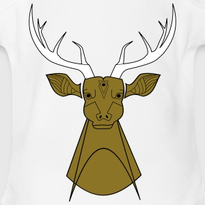 Wild deer - Short Sleeve Baby Bodysuit