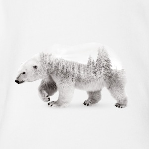 Arctic Bear - Short Sleeve Baby Bodysuit