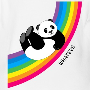 Happy Whatevs Panda on Rainbow