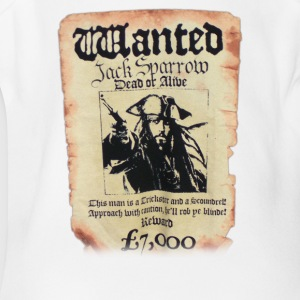 Disney Pirates Of The Caribbean Poster Wanted Jack - Short Sleeve Baby Bodysuit