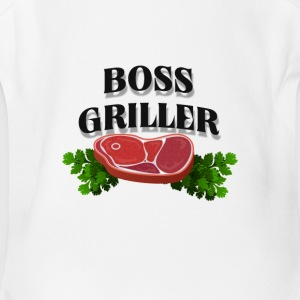 Boss Griller - Short Sleeve Baby Bodysuit