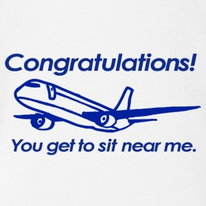 Congratulations! You get to sit near me. - Short Sleeve Baby Bodysuit