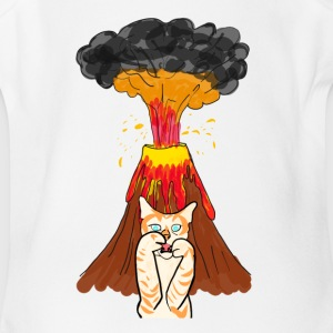 Volcano Cat - Short Sleeve Baby Bodysuit