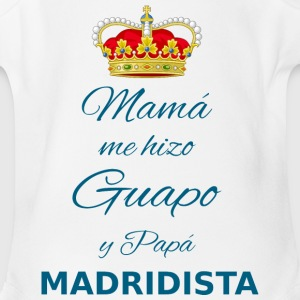 My son is a MADRIDISTA - Short Sleeve Baby Bodysuit
