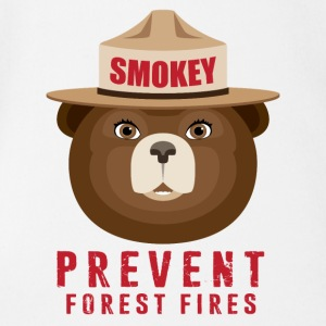 SMOKEY PREVENT FOREST FIRES2 - Short Sleeve Baby Bodysuit