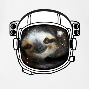 sloth helmet space sci fi astronaut nasa rocket lo - Short Sleeve Baby Bodysuit