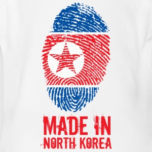 Made In North Korea / 조선민주주의인민공화국 - Short Sleeve Baby Bodysuit