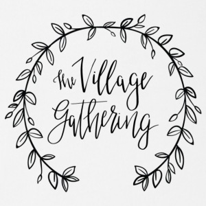 The Village Gathering // Black Logo - Short Sleeve Baby Bodysuit