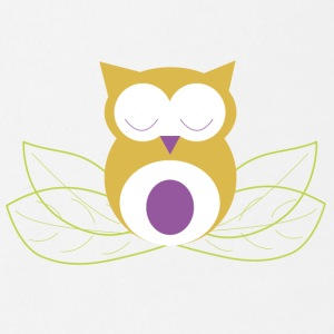 Sleeping owl - Short Sleeve Baby Bodysuit