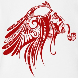 native_american_indian_smoking_red - Short Sleeve Baby Bodysuit