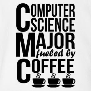 Computer Science Major Fueled By Coffee - Short Sleeve Baby Bodysuit