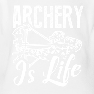 Archer Is Life Tee Shirt - Short Sleeve Baby Bodysuit