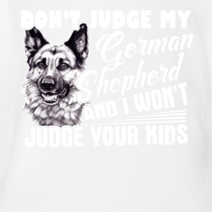 German Shepherd Tshirt - Short Sleeve Baby Bodysuit