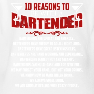 Bartender Shirt - 10 Reasons A Bartender Shirt - Short Sleeve Baby Bodysuit