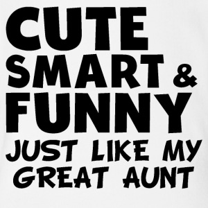 Cute Smart And Funny Like My Great Aunt - Short Sleeve Baby Bodysuit