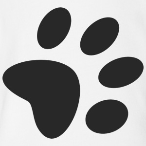 A black large paw vector - Short Sleeve Baby Bodysuit