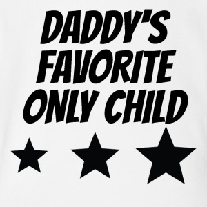 Daddy's Favorite Only Child - Short Sleeve Baby Bodysuit