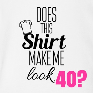 40 years old look - Short Sleeve Baby Bodysuit