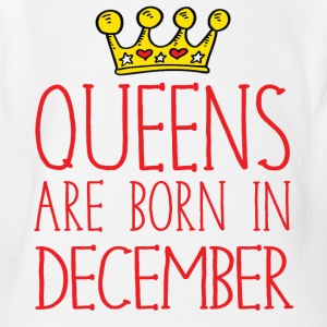 Queens are born in December - Short Sleeve Baby Bodysuit