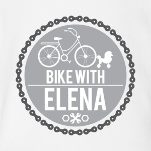 bike with elena - Short Sleeve Baby Bodysuit