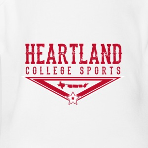 Heartland College Sports logo - Short Sleeve Baby Bodysuit