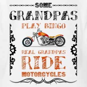 Some Grandpas Play Bingo, Real Ride Motorcycles - Short Sleeve Baby Bodysuit