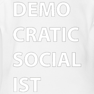 Democratic Socialist Block Letter Tee by DSA GearD - Short Sleeve Baby Bodysuit