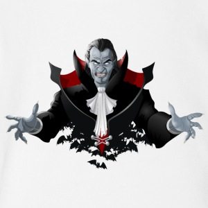 Count Dracula Vampire Monster Bat - Short Sleeve Baby Bodysuit