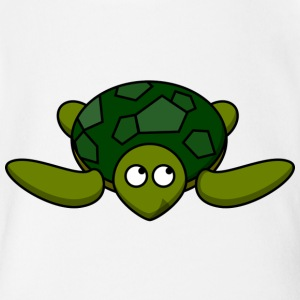 Funny Turtle Comic - Short Sleeve Baby Bodysuit