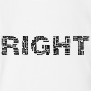 right wrong - Short Sleeve Baby Bodysuit