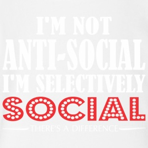 Im Not Anti Social Selectively Social Difference - Short Sleeve Baby Bodysuit