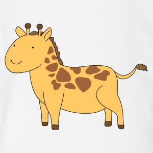 A tiny giraffe - Short Sleeve Baby Bodysuit