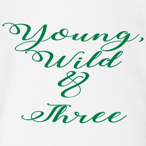 Young Wild Three - Short Sleeve Baby Bodysuit