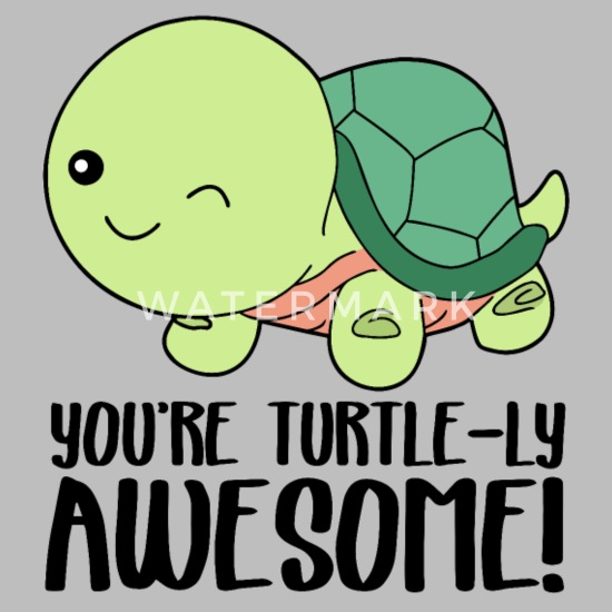 Winking Cute Turtle You Re Turtle Ly Awesome Organic Short Sleeved Baby Bodysuit Spreadshirt