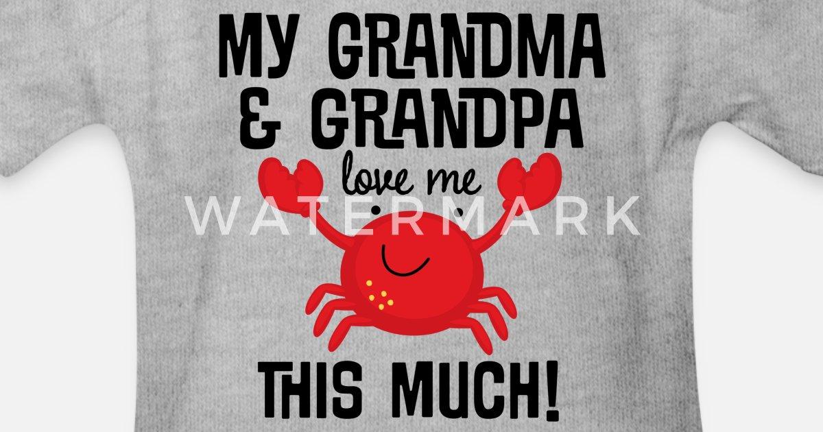 Grandma Loves Me More Than Bingo Long Sleeve Baby Vests Bodysuits Unisex White