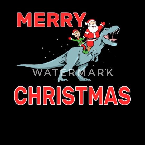 Merry Rexmas T-Rex Dinosaur Christmas Baby Romper Bodysuit