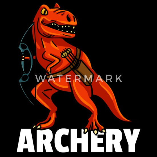 Dinosaur Archery Archer Arrow And Bow Organic Short Sleeved Baby Bodysuit Spreadshirt