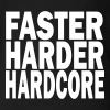 faster harder hardcore - Organic Short Sleeve Baby Bodysuit