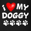 I Love My Doggy - Organic Short Sleeve Baby Bodysuit
