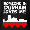 Someone In Durham North Carolina Loves Me - Organic Short Sleeve Baby Bodysuit