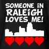 Someone In Raleigh North Carolina Loves Me - Organic Short Sleeve Baby Bodysuit