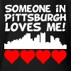 Someone In Pittsburgh Pennsylvania Loves Me - Organic Short Sleeve Baby Bodysuit