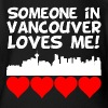 Someone In Vancouver British Columbia Loves Me - Short Sleeve Baby Bodysuit