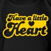 have a little heart love heart funky font - Organic Short Sleeve Baby Bodysuit